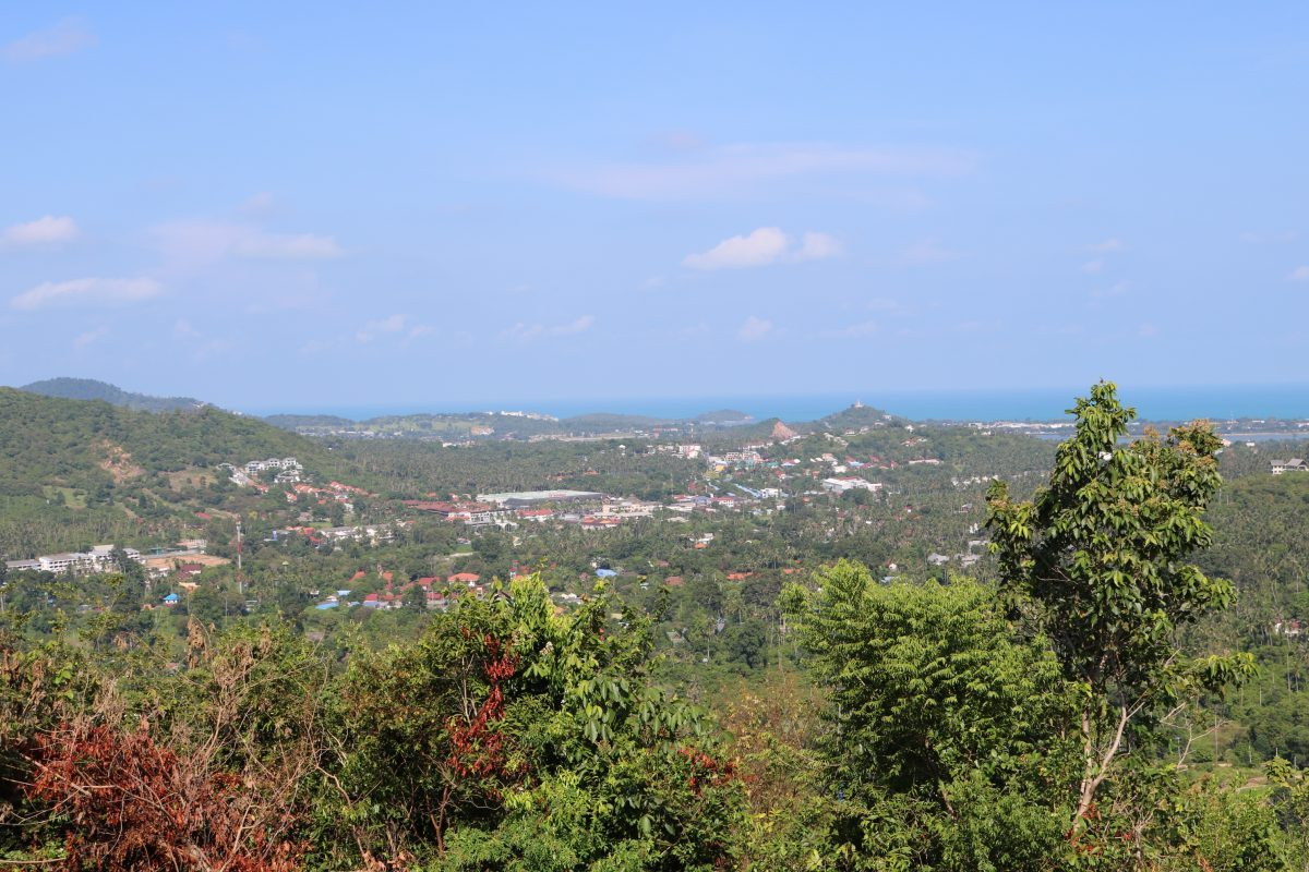 0.9 Rai Hilltop Land with Sea Views - Bophut, Koh Samui - For Sale