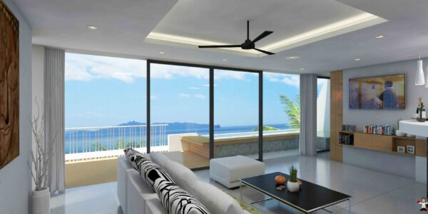 New 2 Bedroom Duplex with Sea Views - Lamai, Koh Samui - For Sale