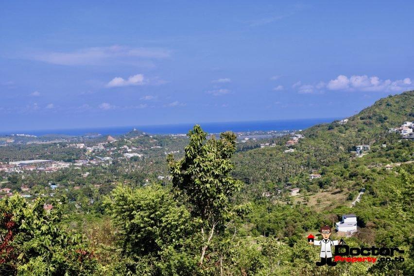 0.9 Rai Hilltop Land with Sea Views - Bophut, Koh Samui - For Sale