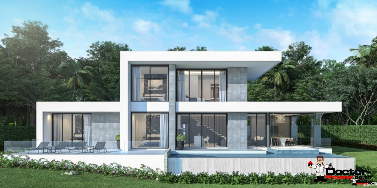 New 5 Bedroom Villa with Sea View in Chaweng Noi - Koh Samui / Thailand - for sale