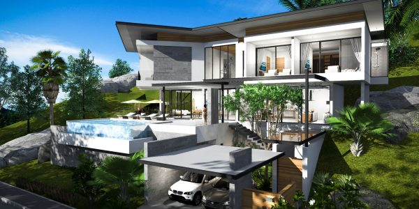 4 Bedroom Villa with sea view Chaweng Noi Koh Samui for sale