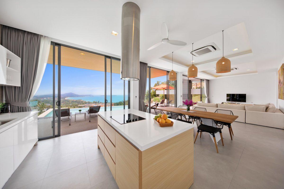Sea View Villa 4 Bedroom Chaweng Noi Koh Samui for sale