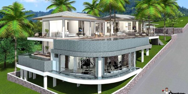 3 Bedroom Villa with sea view in Bophut Koh Samui for sale
