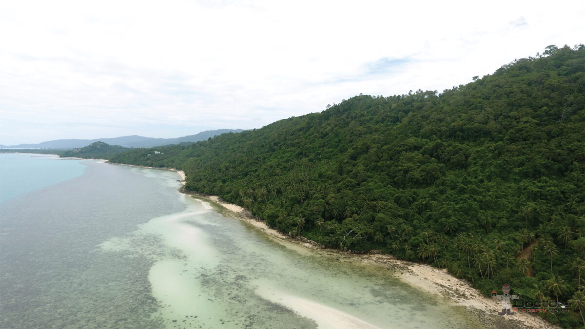 163 Rai of Land with 370m Beachfront - Taling Ngam, Koh Samui - For Sale