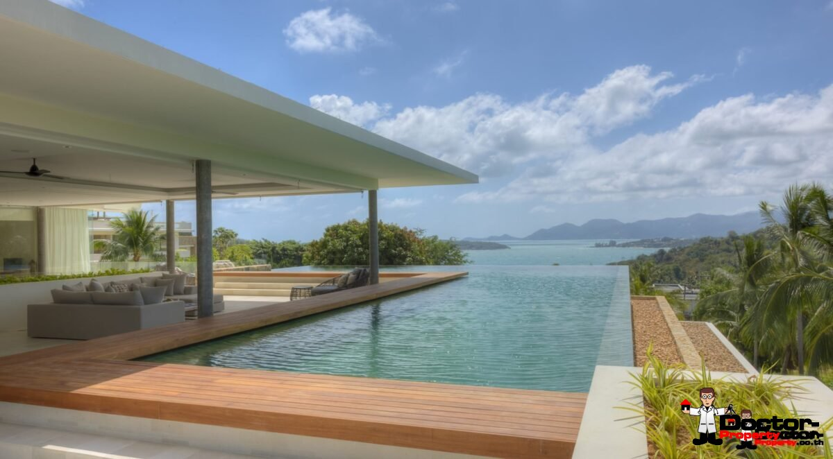 6 Bedroom Luxury Villa, Choeng Mon, Koh Samui - For Sale