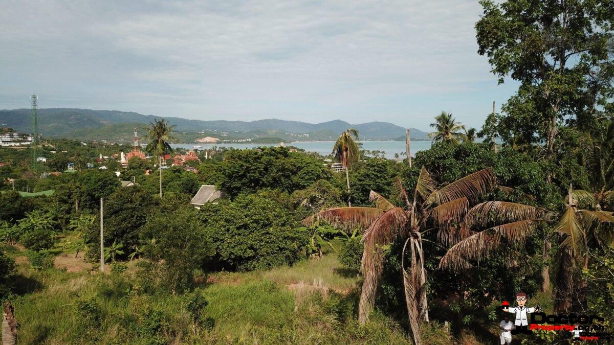 1 Rai Land in 2 Plots with Sea Views - Plai Laem, Koh Samui - For Sale / Real Estate Doctor Property