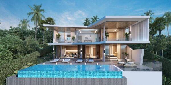 New 4 Bedroom Pool Villa with Sea View - Bo Phut, Koh Samui - For Sale