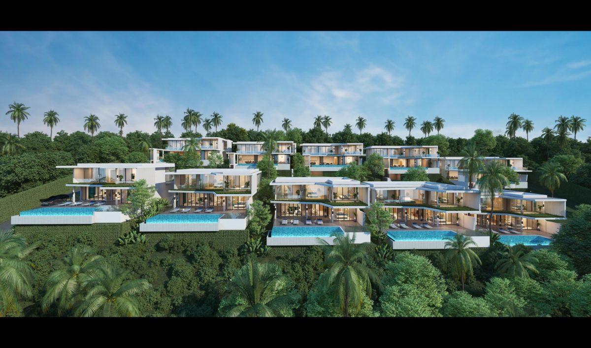 New 4 Bedroom Pool Villa with Sea View - Bo Phut, Koh Samui - For Sale