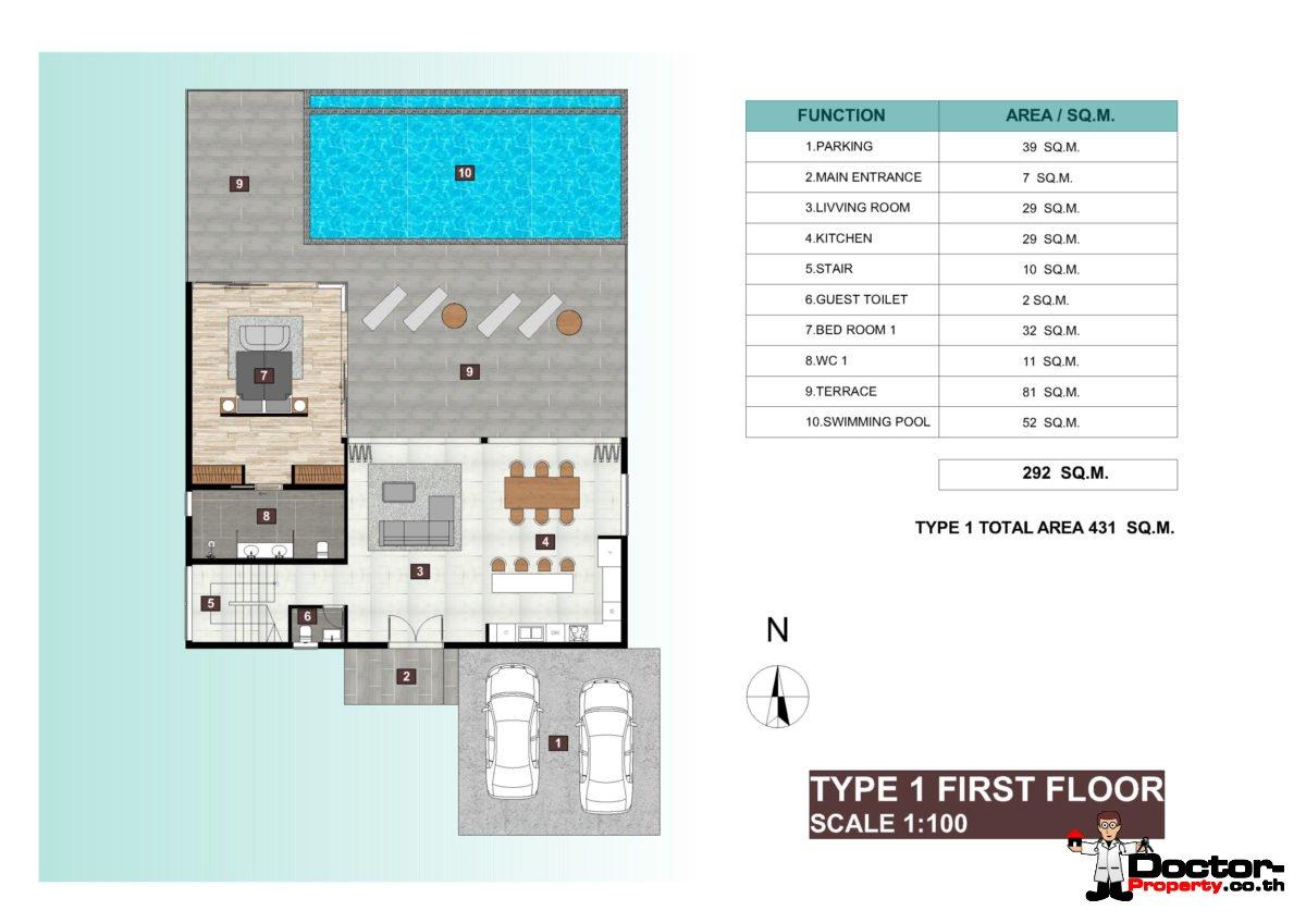 Villa Type 1, First Floor