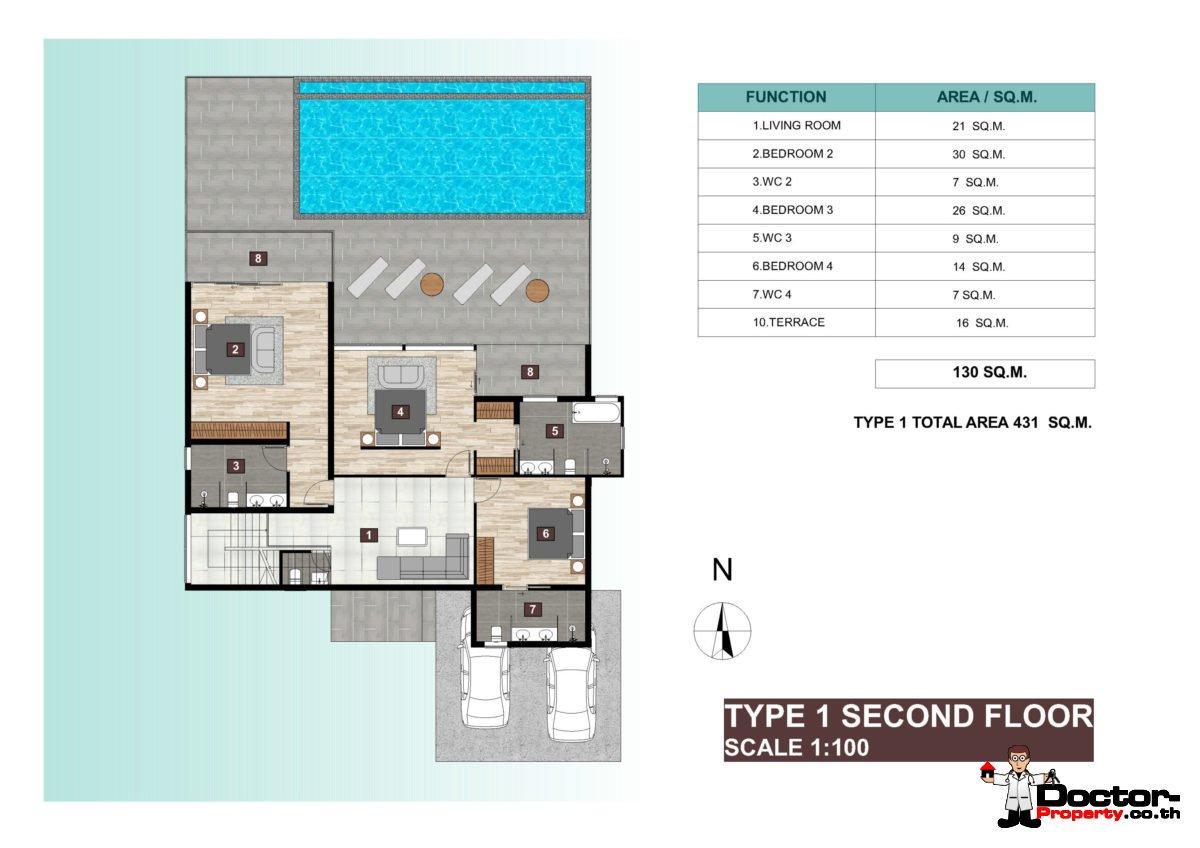Villa Type 1, Second Floor