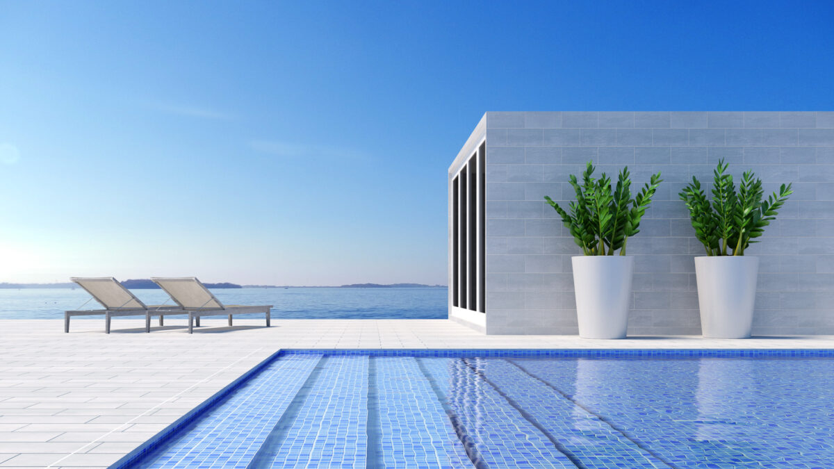 Beach lounge - Sundeck on Sea view for vacation and summer in swimming pool / Doctor Property Real Estate