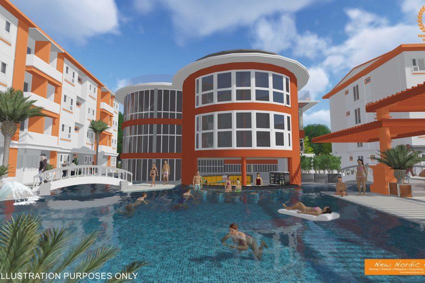 Pool Area Birdseye - Lamai Waterworld Apartments - Lamai, Koh Samui - For Sale - Doctor Property Real Estate