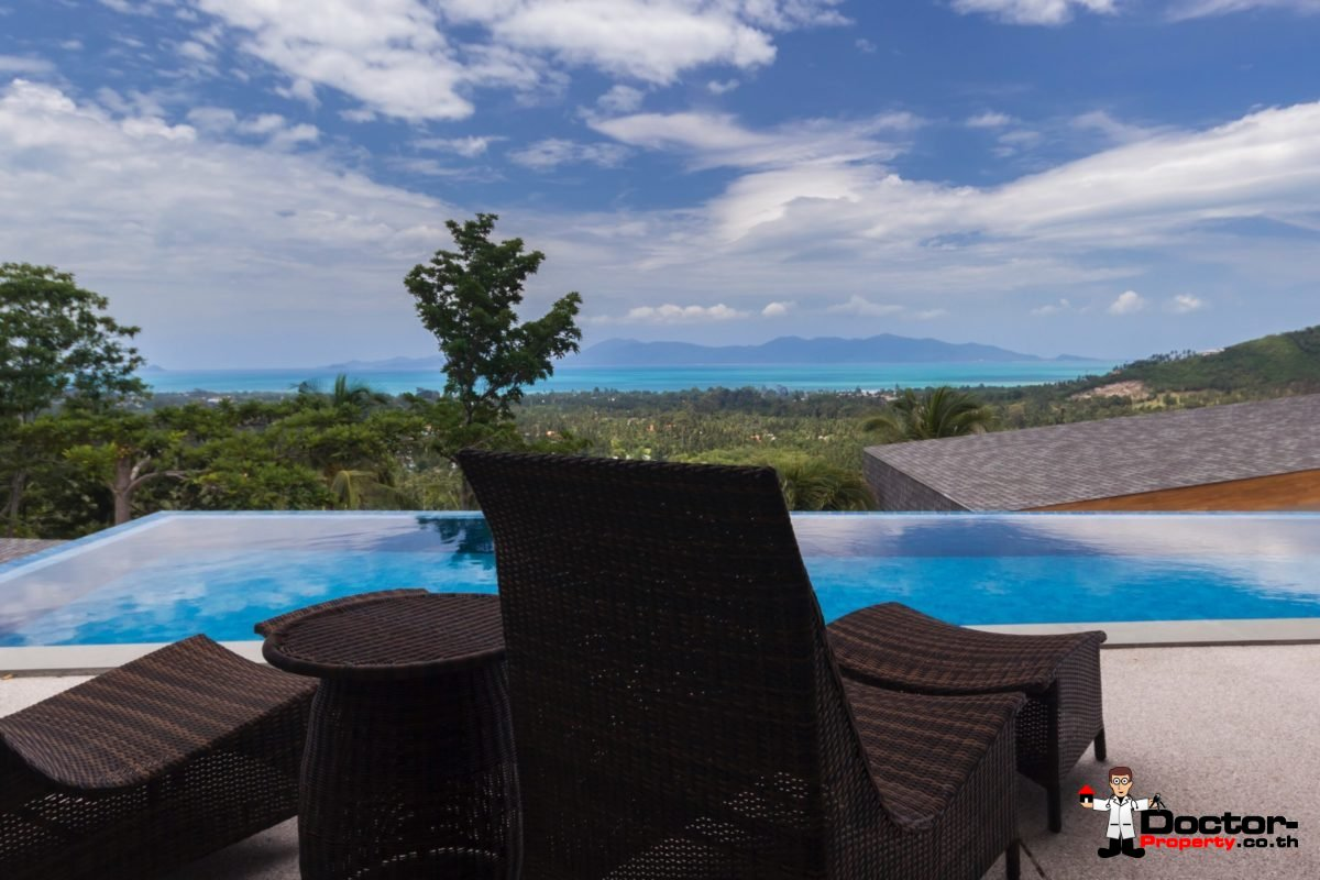 4 Bedroom Sea View Pool Villa - Mae Nam, Koh Samui - For Sale - Doctor Property Real Estate