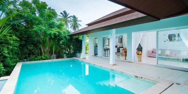 2 Bed Pool Villa, Sea View - Choeng Mon, Koh Samui - For Sale