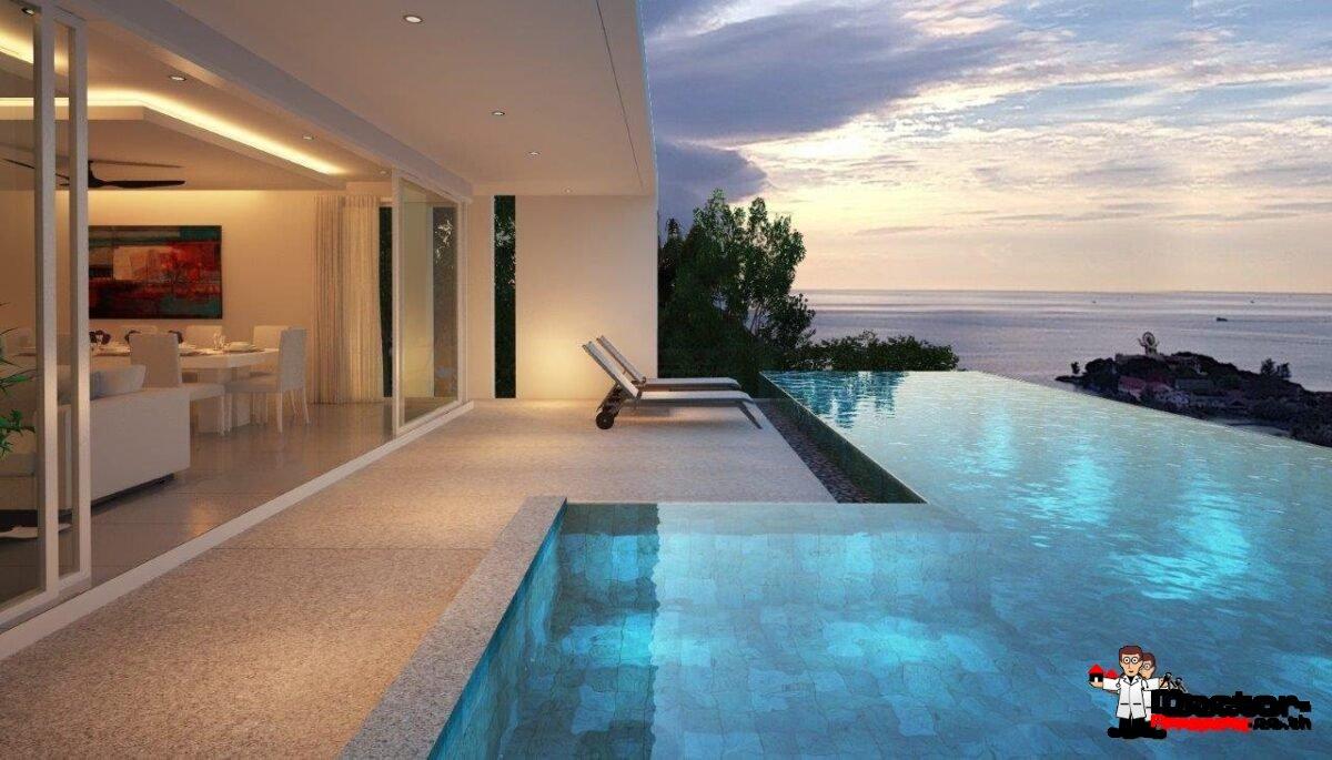 4 Bed Pool Villa with Sea Views - Big Buddha, Koh Samui - For Sale