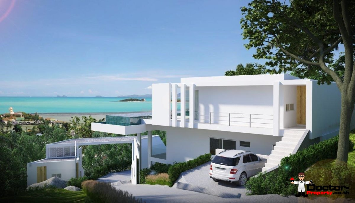 4 Bed Pool Villa with Sea Views - Big Buddha, Koh Samui - For Sale