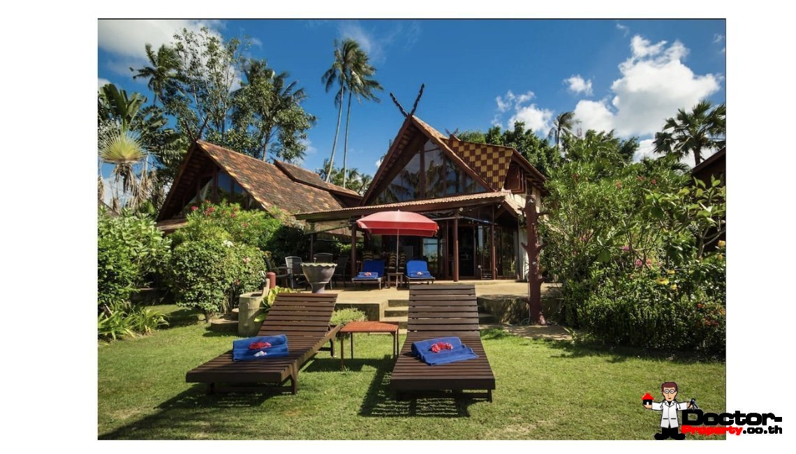 Traditional 2 Bedroom Villa beachfront in Bang Por - Koh Samui - for sale / Real Estate - Doctor Property