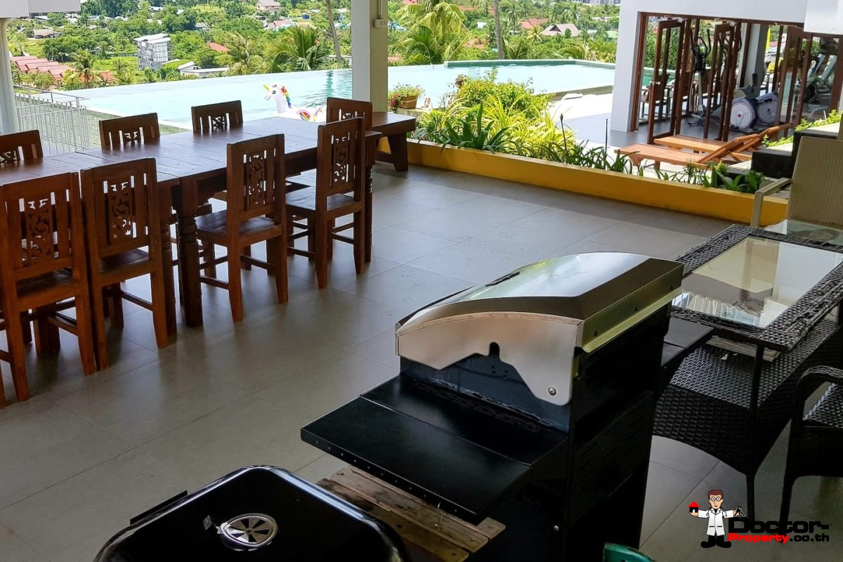 3 Bedroom Condo with Sea View - (Foreigner Freehold) - Big Buddha, Koh Samui - For Sale