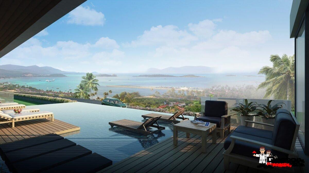 3 Bedroom Pool Villas with Sea Views - Big Buddha, Koh Samui - For Sale - Doctor Property Real Estate