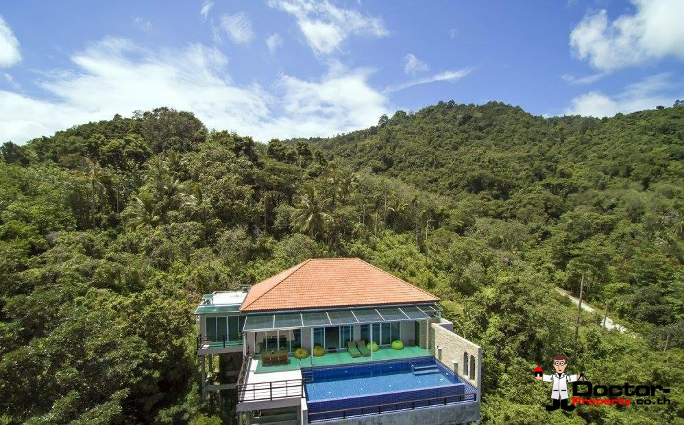 3 Bedroom Villa with Sea View in Mae Nam - Koh Samui - for sale