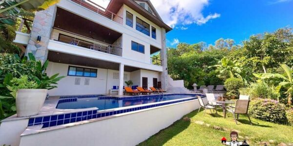 Beachside 5-Bedroom  Sea View Villa - Bang Rak - Koh Samui - for sale
