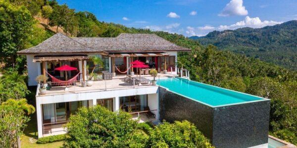 Amazing 3 Bedroom Villa with sea view in Bophut - Koh Samui - for sale