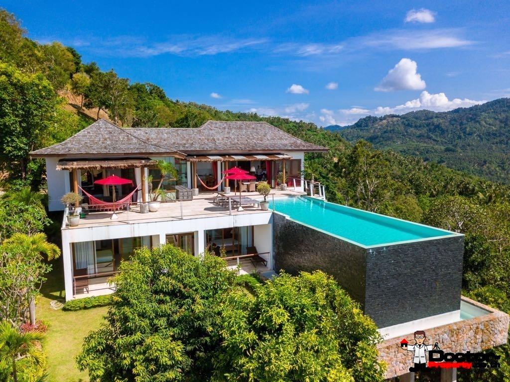 Traumhafte 3 Schlafzimmer Villa Mit Meerblick In Bophut Koh Samui Zu Verkaufen