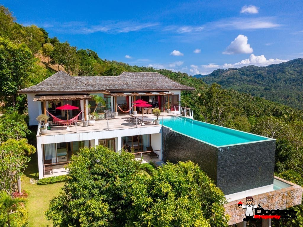 Amazing 3 Bedroom Villa with sea view in Bophut - Koh Samui - for sale