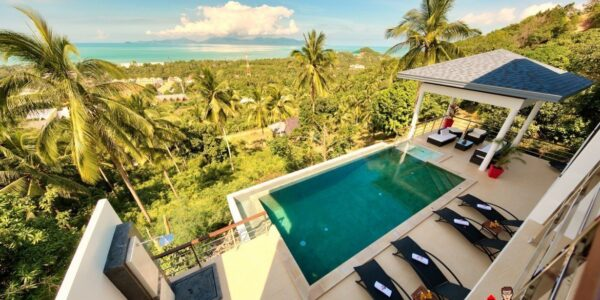 4 Bedroom Pool Villa with Seaview - Mae Nam, Koh Samui - For Sale