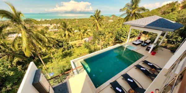 4 Bedroom Pool Villa with Seaview - Mae Nam, Koh Samui - For Sale