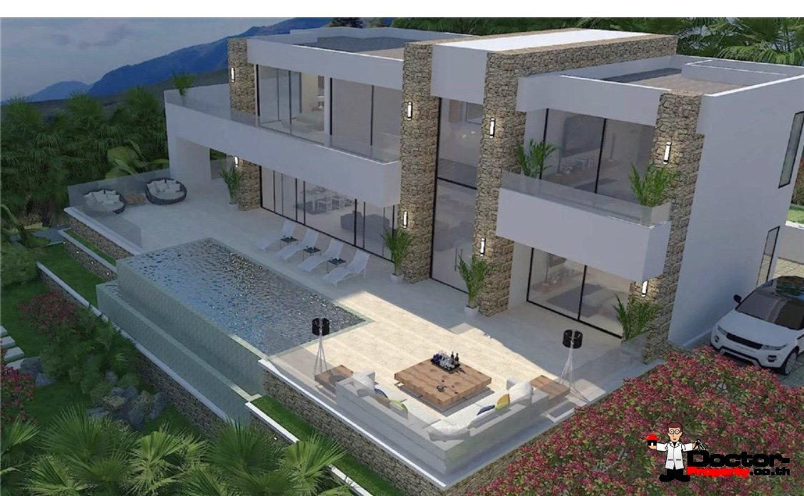 New 3 Bedroom Pool Villa with Seaview - Chaweng Noi, Koh Samui - For Sale