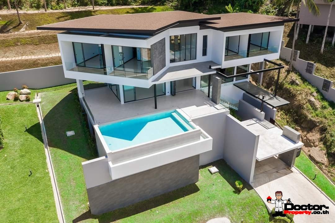 New 4 Bedroom Villa with amazing Sea View in Chaweng Noi - Koh Samui - for sale