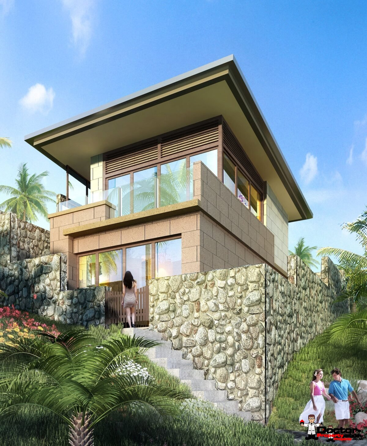 New 1 Bedroom Villa with Seaview - Chaweng Noi, Koh Samui -For Sale
