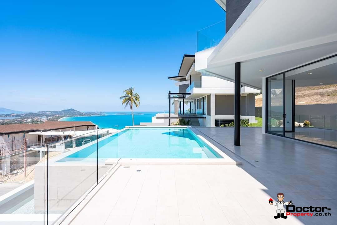 New 4 Bedroom Villa with amazing Sea View in Chaweng Noi - Koh Samui - for sale 6