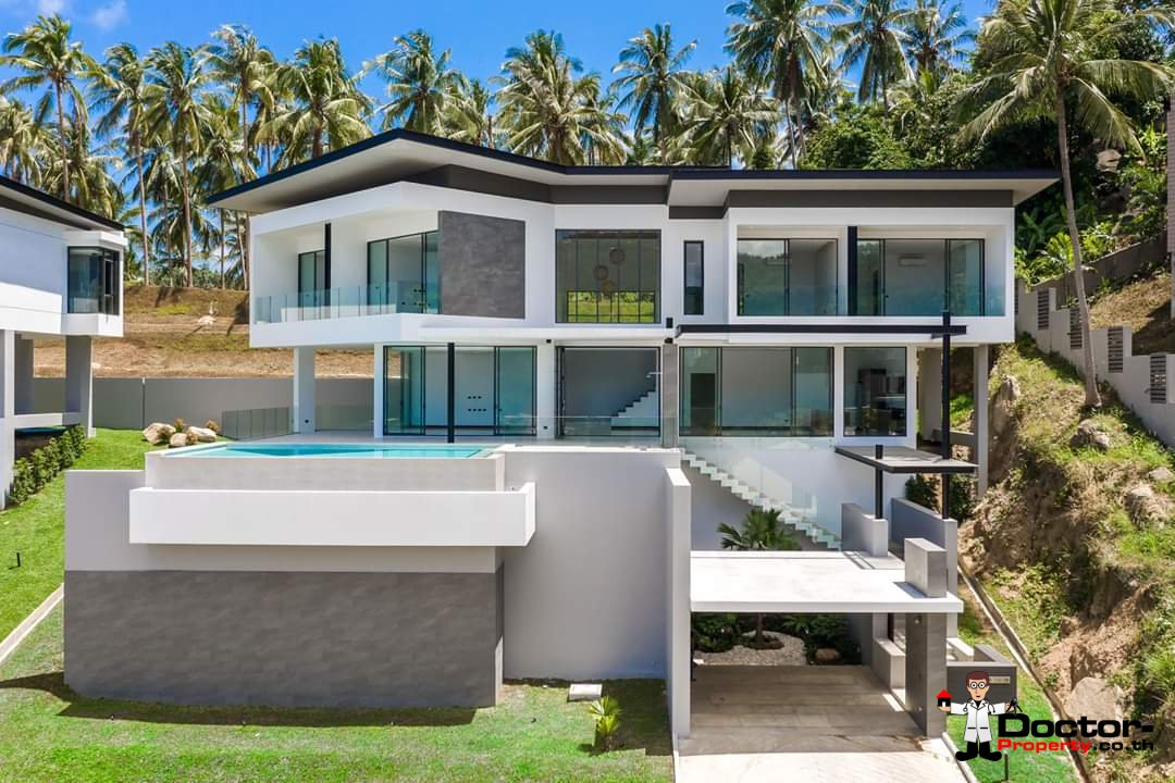 New 4 Bedroom Villa with amazing Sea View in Chaweng Noi - Koh Samui - for sale 3