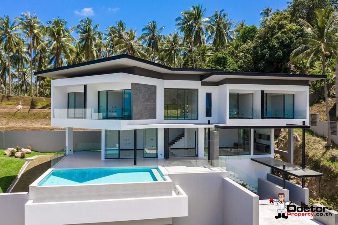 New 4 Bedroom Villa with amazing Sea View in Chaweng Noi - Koh Samui - for sale 1