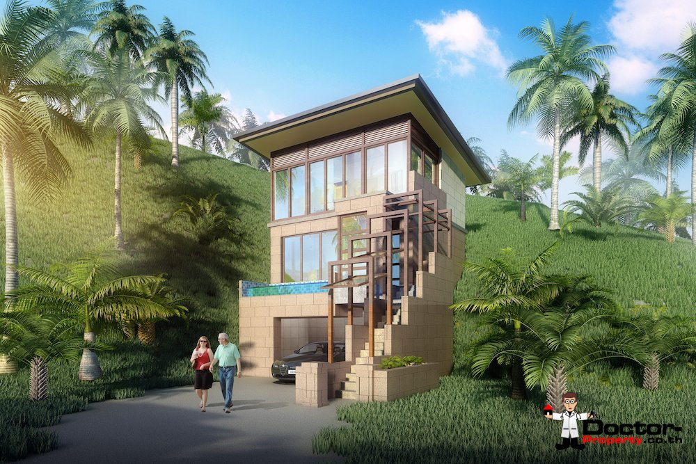 New 1 Bedroom Villa with Seaview - Chaweng Noi, Koh Samui - For Sale