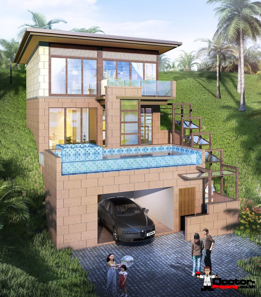 New 2 Bedroom Villa with Seaview - Chaweng Noi, Koh Samui - For Sale