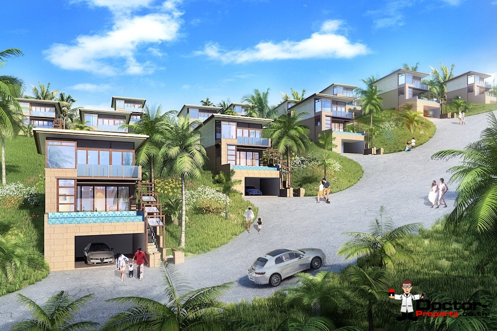 New Project with Seaview - Chaweng Noi, Koh Samui - For Sale