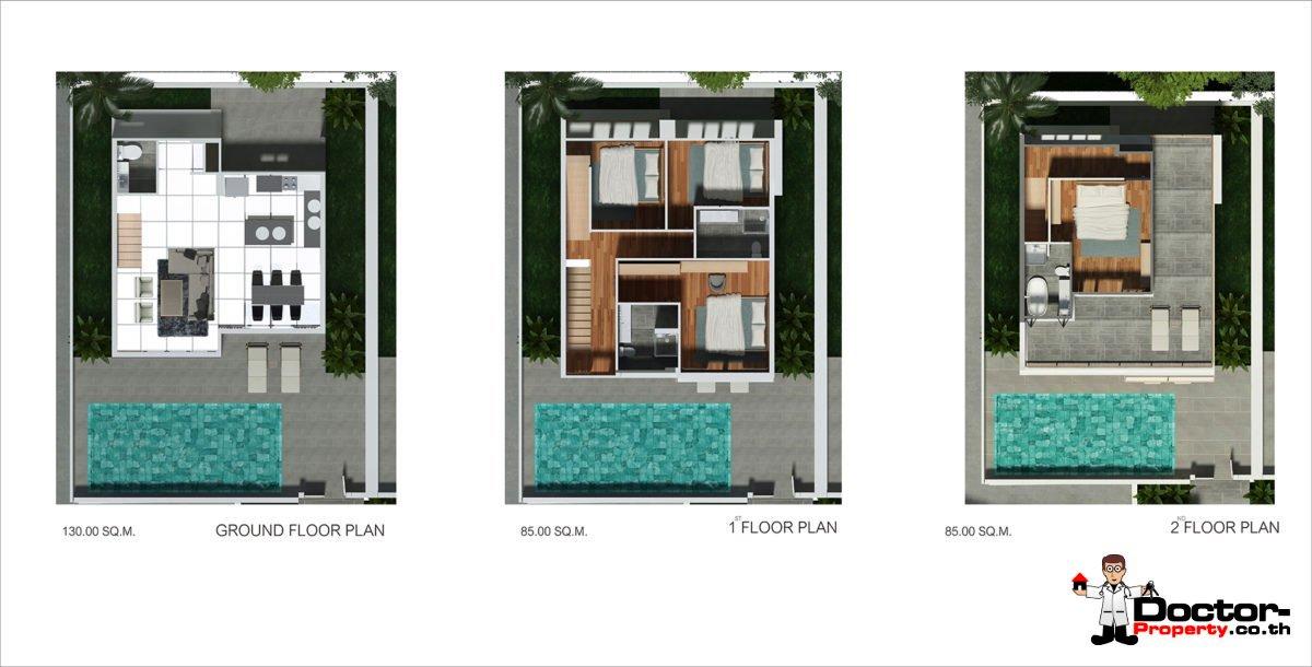 New 4 bedroom Pool Villas in Plai Laem - Koh Samui