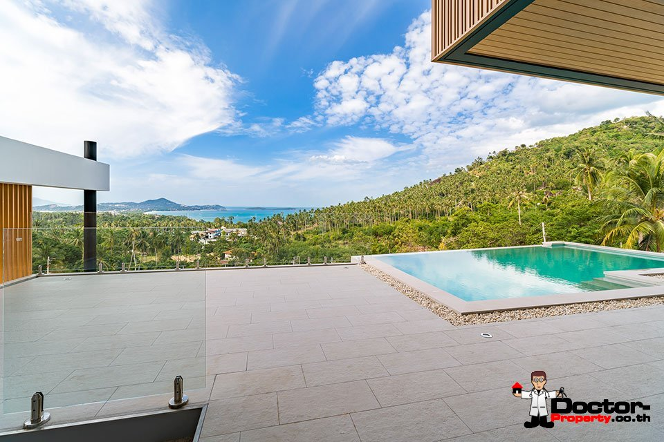 New 3 Bedroom Villa with Sea View in Chaweng Noi - Koh Samui - For Sale