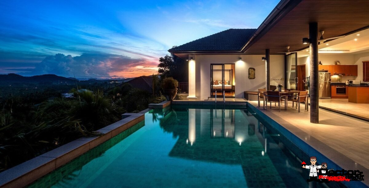 3 Bedroom Pool Villa with Sea View in Hua Thanon - Koh Samui - For Sale