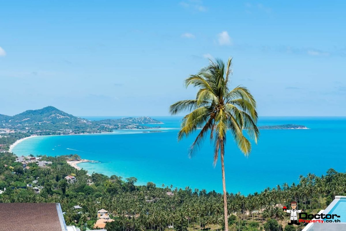New 4 Bedroom Villa with amazing Sea View in Chaweng Noi - Koh Samui - for sale 5