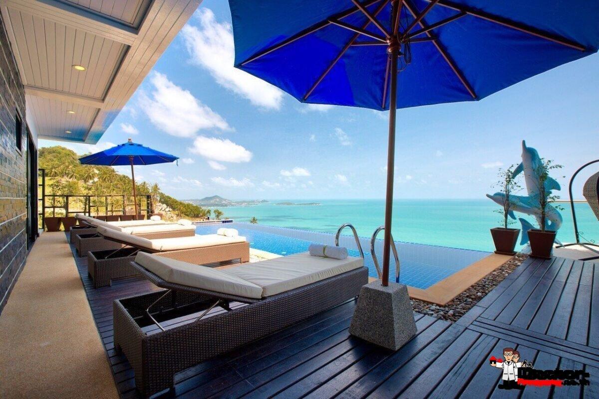 ขายวิลล่า 9 ห้องนอนพร้อมกับสระว่ายน้ำและวิวทะเล เฉวงน้อย - เกาะสมุย