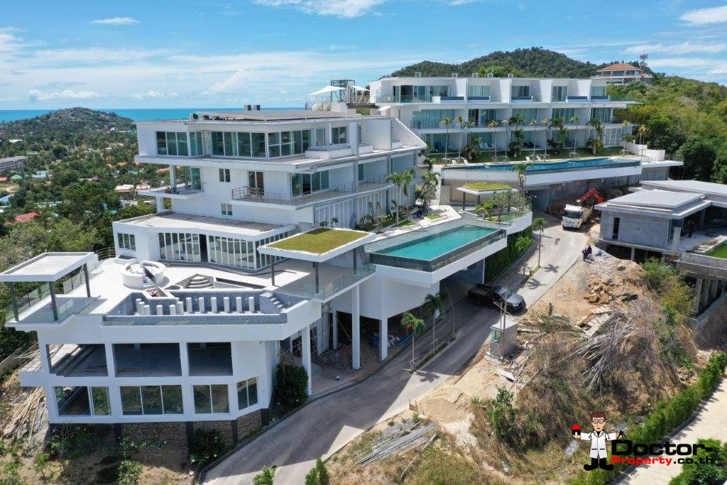New 6 Bed Pool Villa with Sea Views – Big Buddha, Koh Samui – For Sale