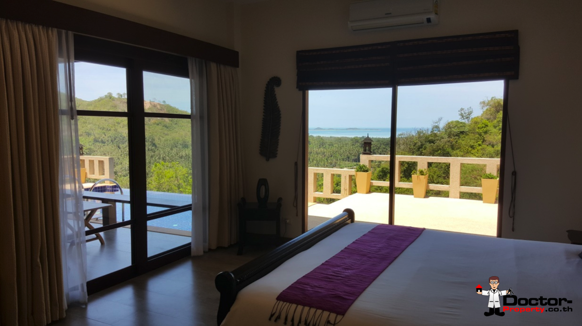 4 Bedroom Pool Villa with Sea View - Taling Ngam, Koh Samui - For Sale