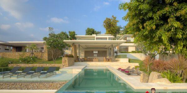 5 Bedroom Luxury Villa - Choeng Mon, Koh Samui - For Sale