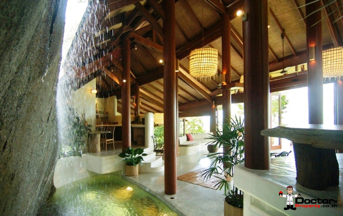 Amazing 3 Bed Villa with Waterfall and Sea View - Na Mueang, Koh Samui - For Sale