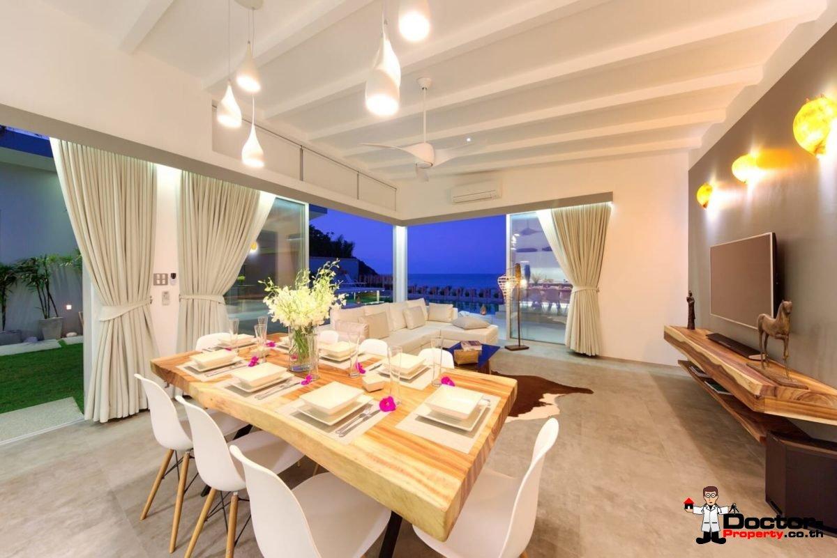 Beachfront Luxury 5 Bedroom Pool Villa in Plai Laem, Koh Samui - For Sale
