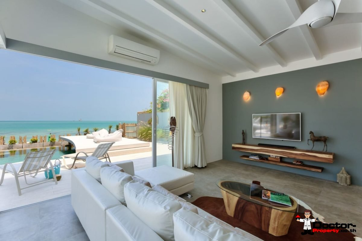 Beachfront Luxury 5 Bedroom Pool Villa in Plai Laem, Koh Samui - For Sale